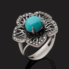 Кольцо бирюза Тибет (серебро 925 пр. оксидир.) размер 17,5