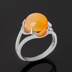 Кольцо сердолик Ботсвана (серебро 925 пр. родир. бел.) размер 16,5