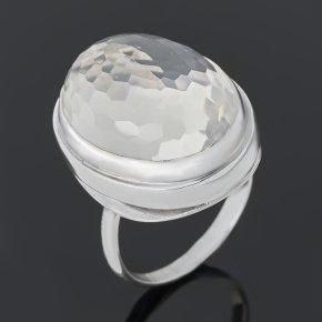 Кольцо горный хрусталь Бразилия (серебро 925 пр.) огранка размер 18
