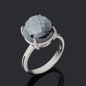 Кольцо гематит Бразилия (серебро 925 пр. родир. бел.) огранка размер 17,5