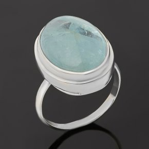 Кольцо аквамарин Россия (серебро 925 пр.) размер 17,5