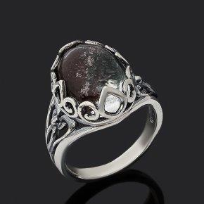 Кольцо кварц с хлоритом Бразилия (серебро 925 пр. оксидир.) размер 17