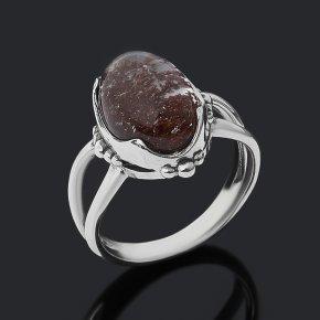 Кольцо кварц с хлоритом Бразилия (серебро 925 пр. оксидир.) размер 18,5