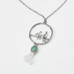 Кулон авантюрин зеленый Зимбабве (биж. сплав, сталь хир., глина полимерная)