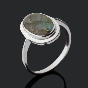 Кольцо лабрадор Мадагаскар (серебро 925 пр. родир. бел.) размер 17,5