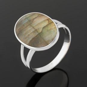 Кольцо лабрадор Мадагаскар (серебро 925 пр. родир. бел.) размер 19