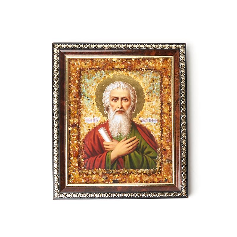 Изображение янтарь Андрей Первозванный 14х16,5 см