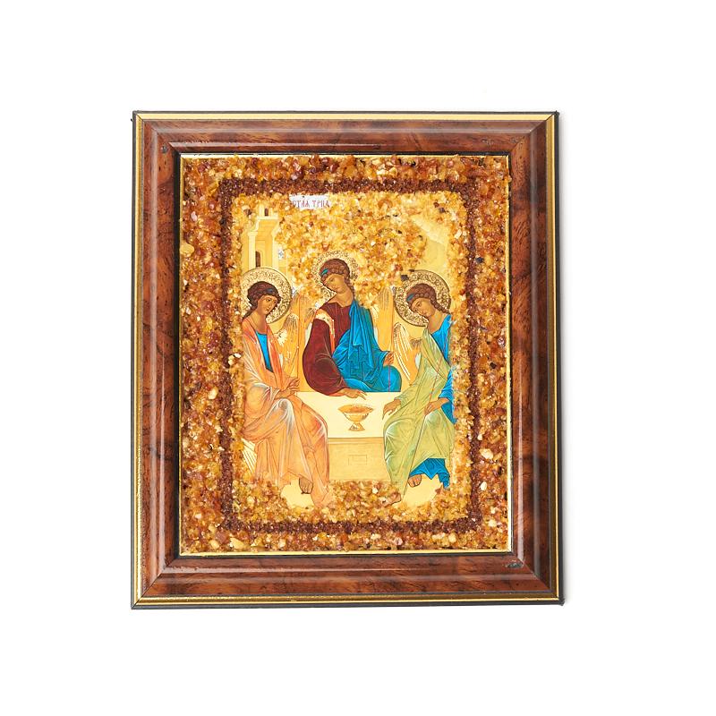 Изображение янтарь Святая троица 14,5х17 см махлак константин андреевич передача 1 троица
