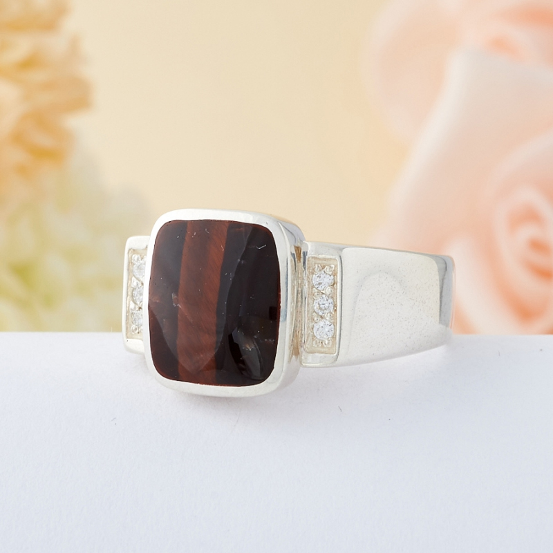 Кольцо бычий глаз ЮАР (серебро 925 пр.) размер 20