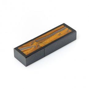 USB-флеш-накопитель микс долерит, тигровый глаз 32 Гб 6,5 см