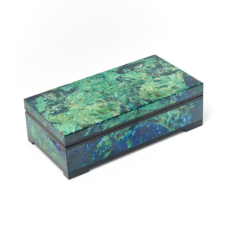 Шкатулка микс азуромалахит, долерит 13х7х4 см