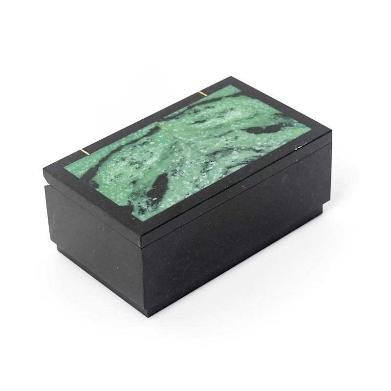 Шкатулка микс долерит, цоизит 10х6х4 см