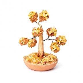 Дерево счастья янтарь пресс Россия 12 см