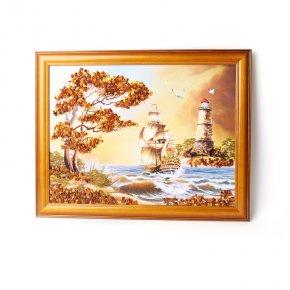 Картина Море янтарь Россия 30х40 см