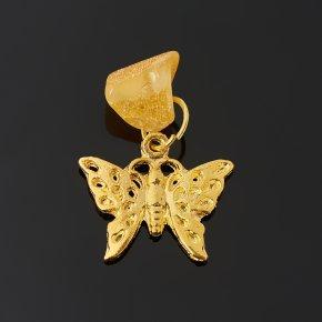 Талисман янтарь Россия (бабочка) 2 см