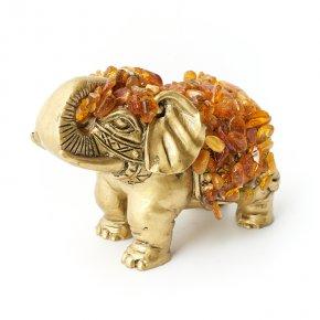 Слон янтарь Россия 9 см