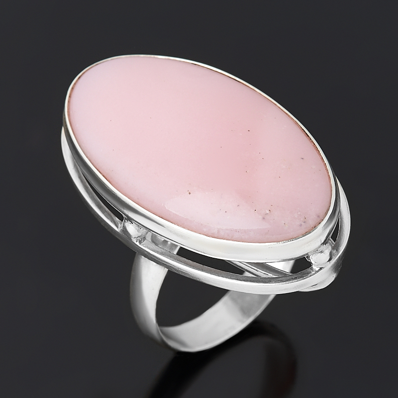 Кольцо опал розовый  (серебро 925 пр.) размер 18
