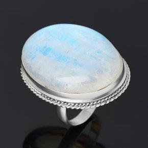 Кольцо лунный камень (адуляр) Индия (серебро 925 пр.) размер 19