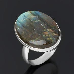 Кольцо лабрадор Мадагаскар (серебро 925 пр.) размер 18,5