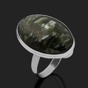 Кольцо клинохлор (серафинит) Россия (серебро 925 пр.) размер 18