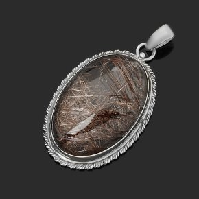 Кулон рутиловый кварц Бразилия (серебро 925 пр.) овал