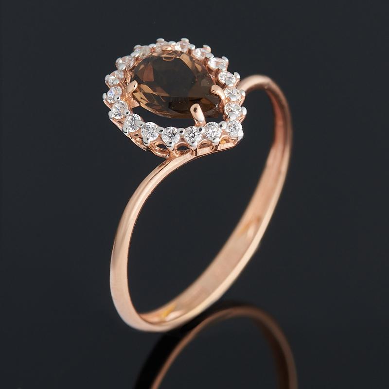 Фото - Кольцо раухтопаз (серебро 925 пр. позолота) огранка размер 16,5 кольцо раухтопаз огранка серебро 925 пр позолота размер 18 5
