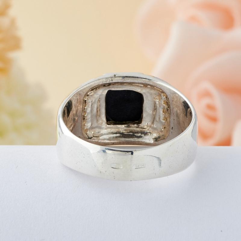 Кольцо соколиный глаз ЮАР (серебро 925 пр.) размер 17,5