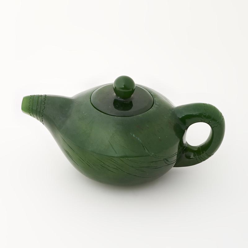 Посуда нефрит зеленый Россия (чайник) 3,5х8 см