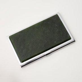Визитница нефрит зеленый Россия (биж. сплав) 9,5х5,5 см