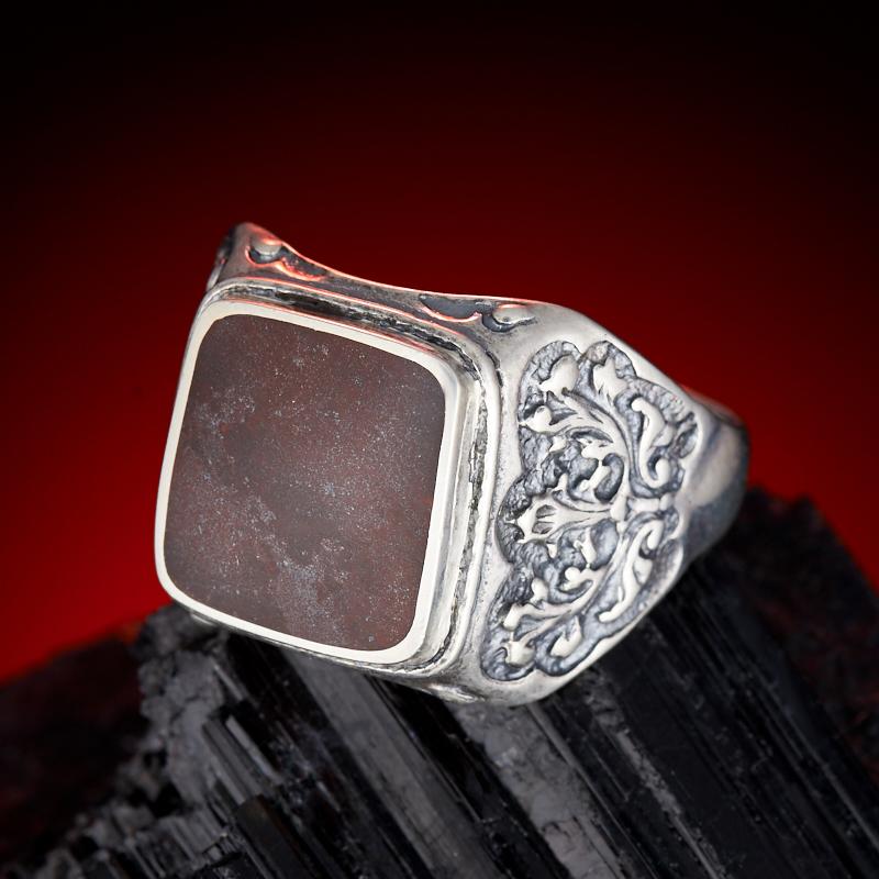 Кольцо яшма красная (серебро 925 пр.) размер 21,5
