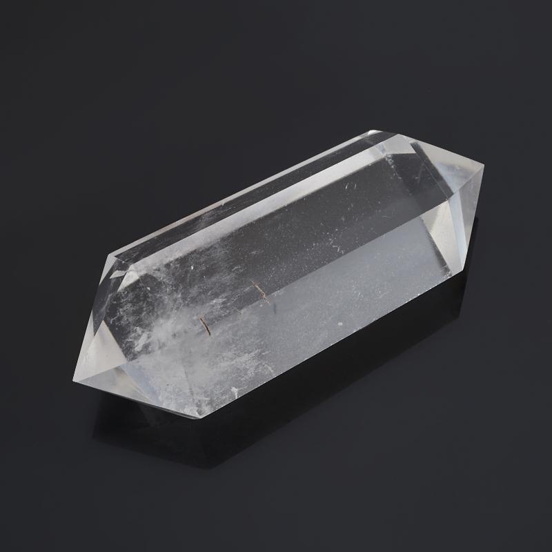 Кристалл горный хрусталь Бразилия (двухголовик) (ограненный) M (7-12 см)