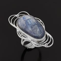 Кольцо кианит синий Бразилия (серебро 925 пр. родир. бел.) (регулируемый) размер 17,5