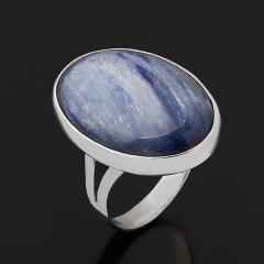 Кольцо кианит синий Бразилия (серебро 925 пр. родир. бел.) размер 18