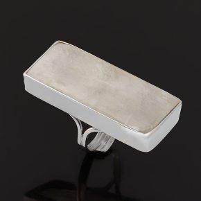 Кольцо лунный камень (адуляр) Индия (серебро 925 пр. родир. бел.) (регулируемый) размер 17,5