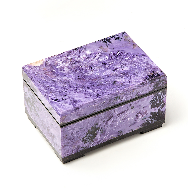 Шкатулка чароит (биж. сплав) 10,5х7х6 см