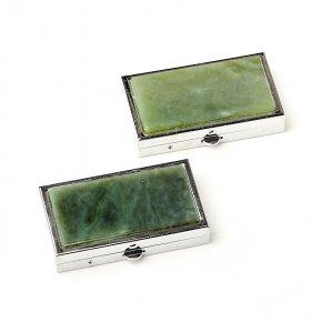 Таблетница нефрит зеленый Россия 3х5,5 см