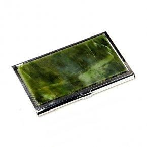 Визитница нефрит зеленый Россия 5,5х9,5 см