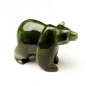 Медведь нефрит зеленый Россия 9 см