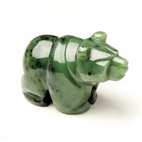 Медведь нефрит зеленый Россия 10 см