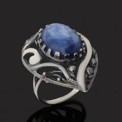 Кольцо кианит синий Бразилия (серебро 925 пр. оксидир.) размер 18,5