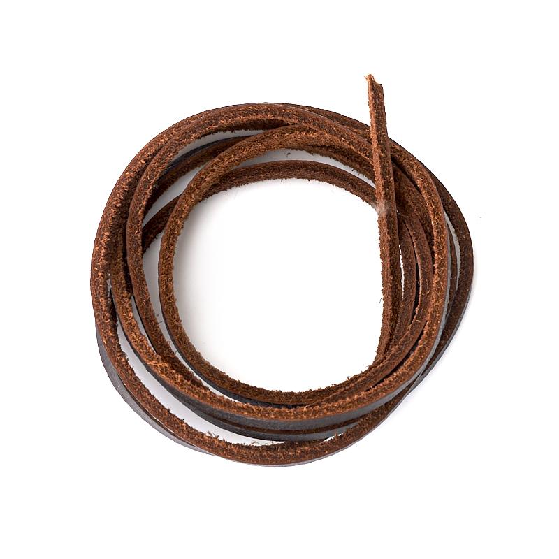 Шнурок (кожа натур.) (коричневый) 100 см