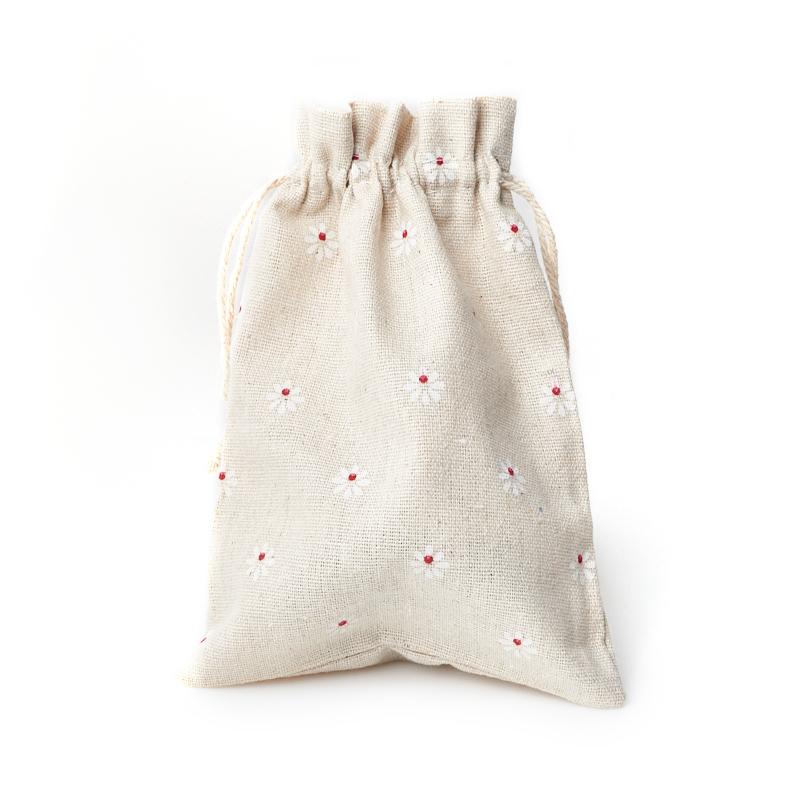 Подарочная упаковка (текстиль) универсальная (мешочек плоский) (микс) 185х135 мм