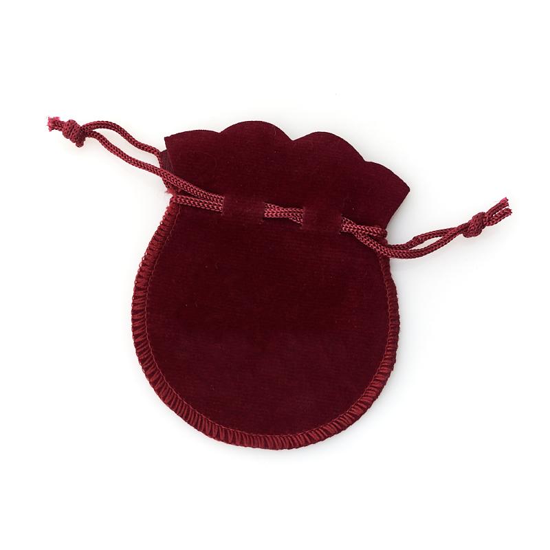 Подарочная упаковка (текстиль) универсальная (мешочек плоский) (бордовый) 90х70 мм