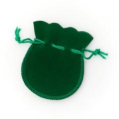 Подарочная упаковка (текстиль) универсальная (мешочек плоский) (зеленый) 90х70 мм