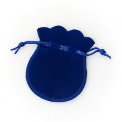 Подарочная упаковка (текстиль) универсальная (мешочек плоский) (синий) 90х70 мм