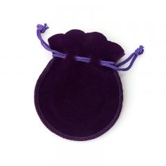 Подарочная упаковка (текстиль) универсальная (мешочек плоский) (фиолетовый) 90х70 мм