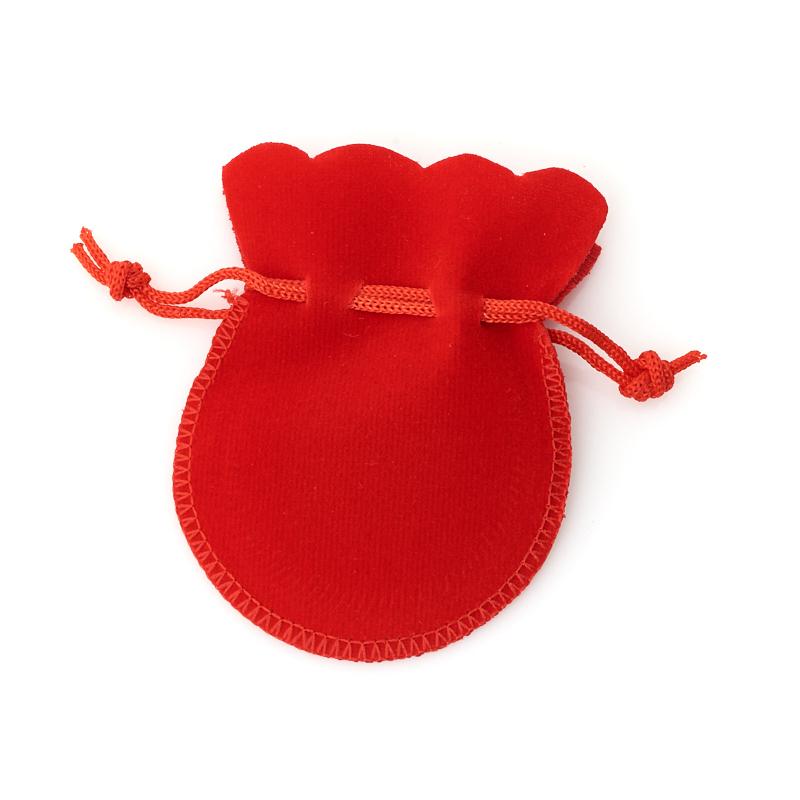 Подарочная упаковка (текстиль) универсальная (мешочек плоский) (красный) 90х70 мм