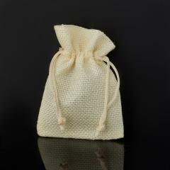 Подарочная упаковка (текстиль) универсальная (мешочек плоский) (желтый) 90х70 мм