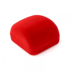 Подарочная упаковка (текстиль) под кольцо/серьги (футляр) (красный) 60х55х30 мм