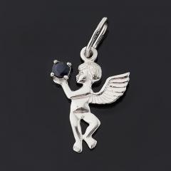 Кулон сапфир Индия (серебро 925 пр. родир. бел.) огранка